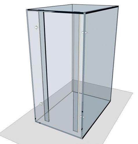 Кладем аквариум на боковую стенку. Намазываем ребро жесткости клеем с трех сторон (вдоль длины и две ширины)
